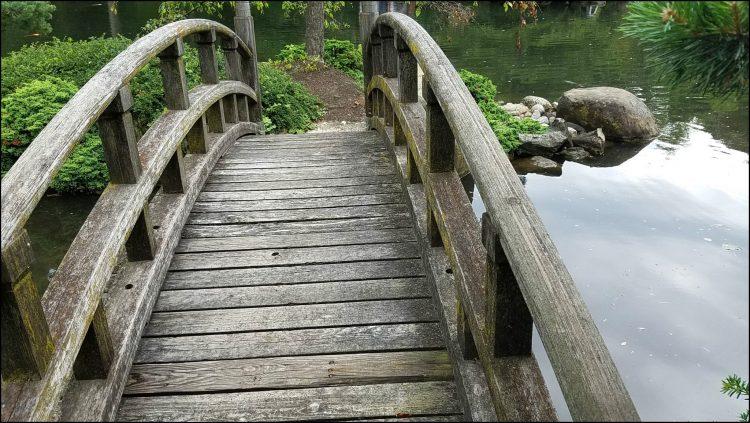 bridge in Anderson Japanese Gardens