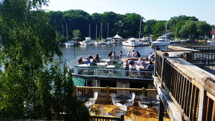 Idler Riverboat at Old Harbor Village. From Here's How To Do South Haven Along Michigan's Sunset Coast