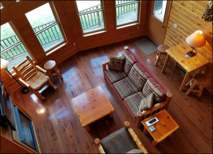 Red Cedar Lodge from above