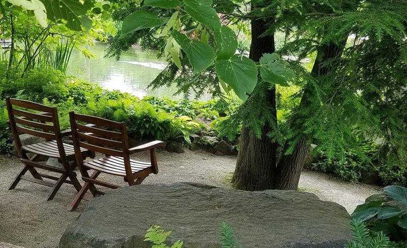Meditating area japanese gardens