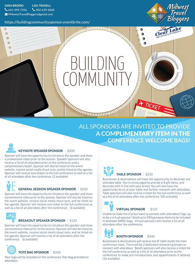 Building Community Flyer Sponsor